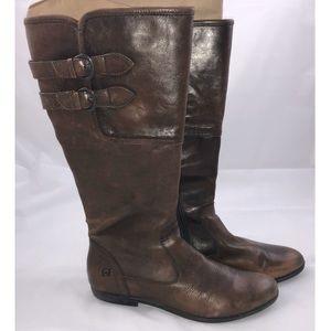 BOC Born concept Leather Brown Riding Boots Sz 9.5